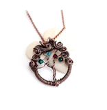 Swirling Canopy Family Tree of Life in Copper