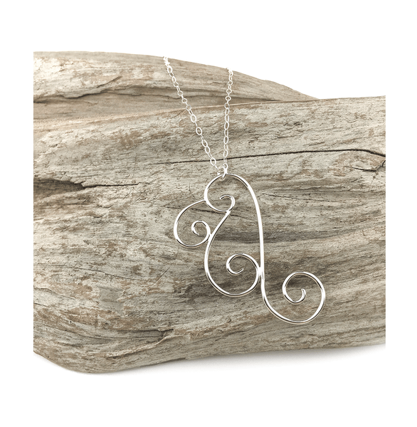 Aria Wing necklace in sterling silver