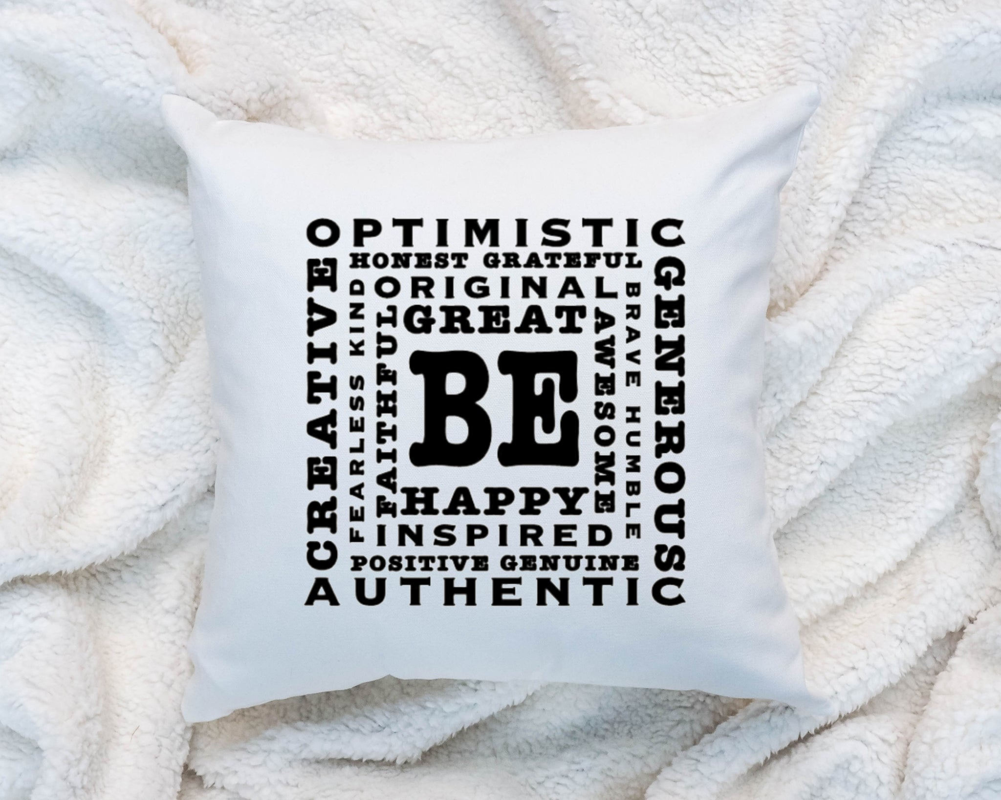 Be Inspirational Best Motivational Quote Pillow Fast Shipping Rb Co
