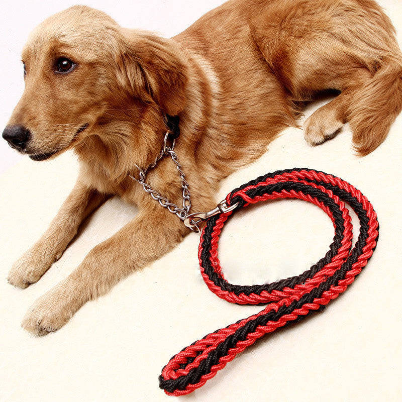Dog Rope Leash With Braided Nylon Collars - BarkForce