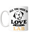All You Need Is Love And A Lab Mug - BarkForce
