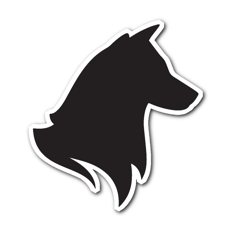 Black Husky Head Sticker - BarkForce
