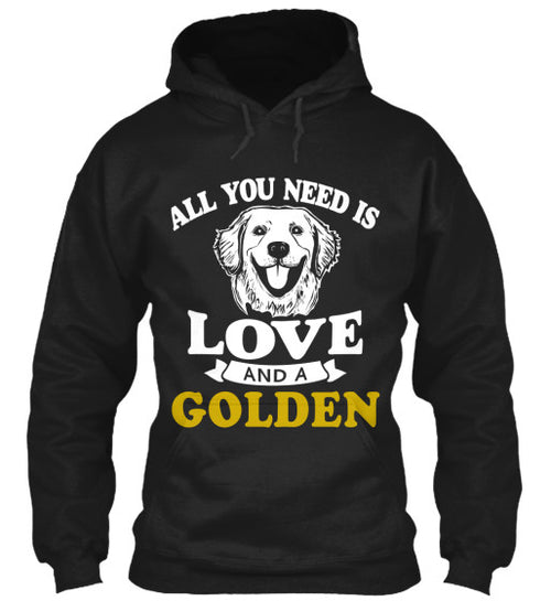 All You Need Is Love And A Golden Hoodie - BarkForce