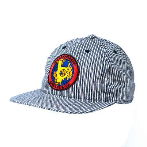 Circles x FairEnds Ball Cap - Blue Hickory Stripe with 10th Anniv Patch