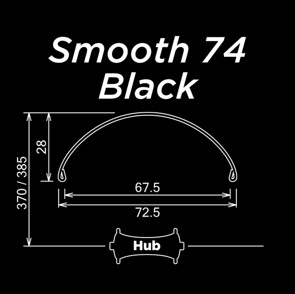 Smooth 74 Black