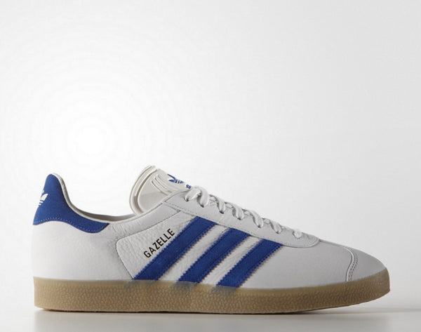 adidas gazelles white and blue