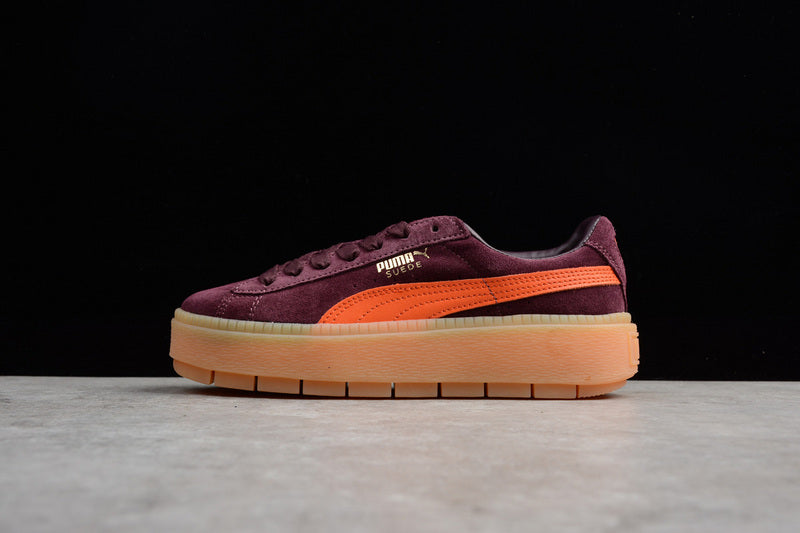 "hot sale online 50796 9d187 PUMA Suede PLATFORM TRACE ""Burgundy & Orange"""