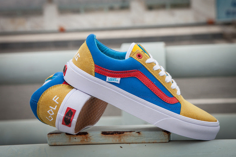 b0b5652ad8 The golf wang old skool pro s is suede skate shoe from vans  syndicate