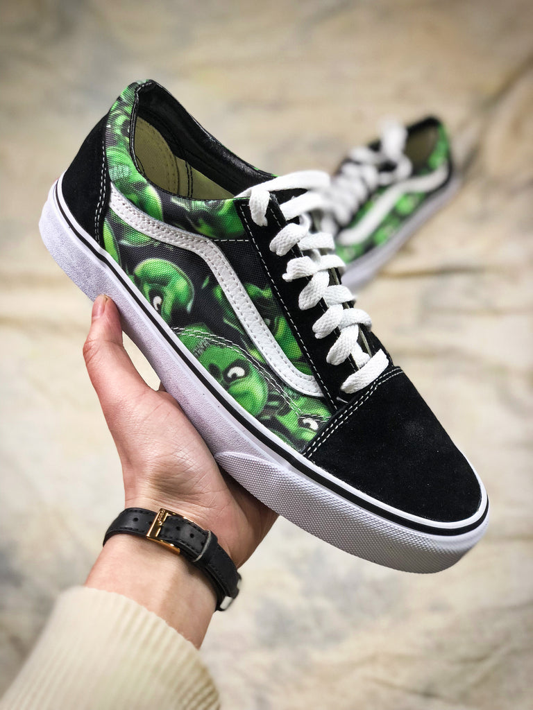 old school vans green