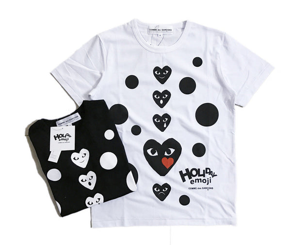 COMME des GARÇONS Holiday Emoji Dot with Heart T-Shirt