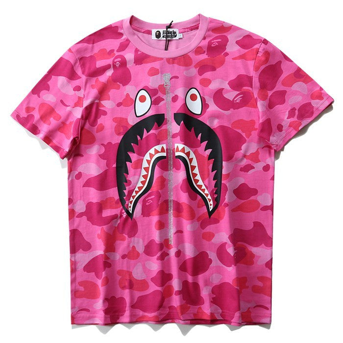 A Bathing Ape Colour Camo Shark T-Shirt
