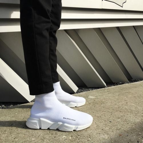 "Balenciaga Speed Trainers ""Triple White"""