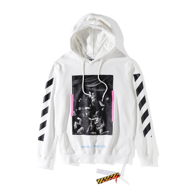 Off-White Mirror Cross Pattern Hoodie