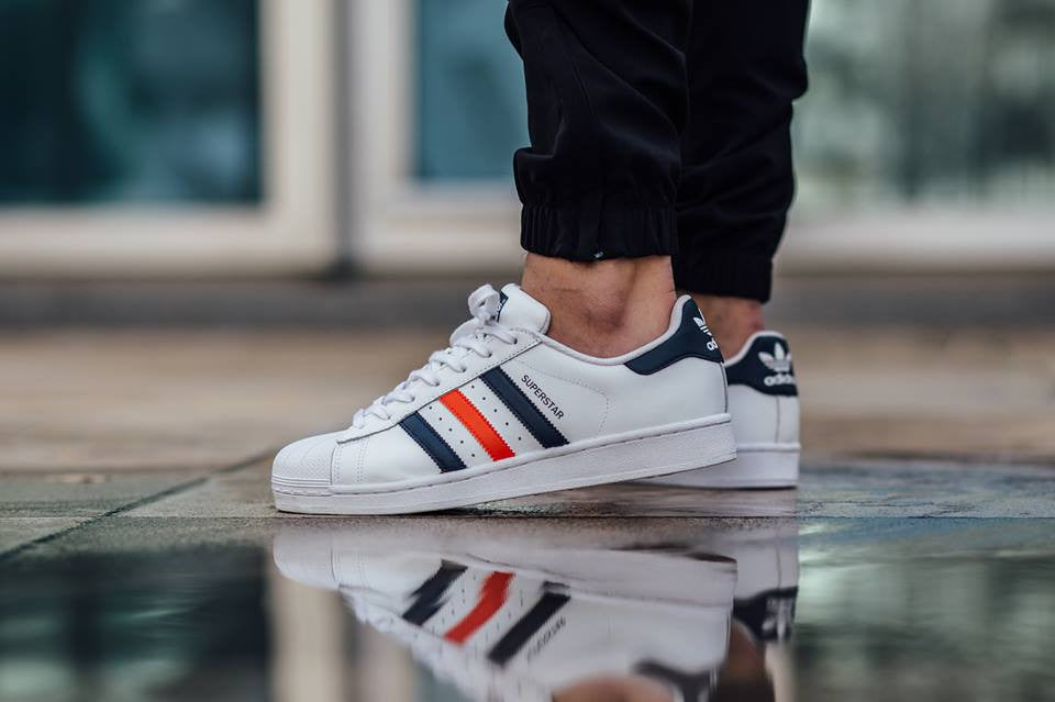 adidas superstar navy red