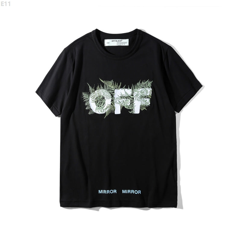 05c84f168821 Off-White Leaf Embroidered T-Shirt
