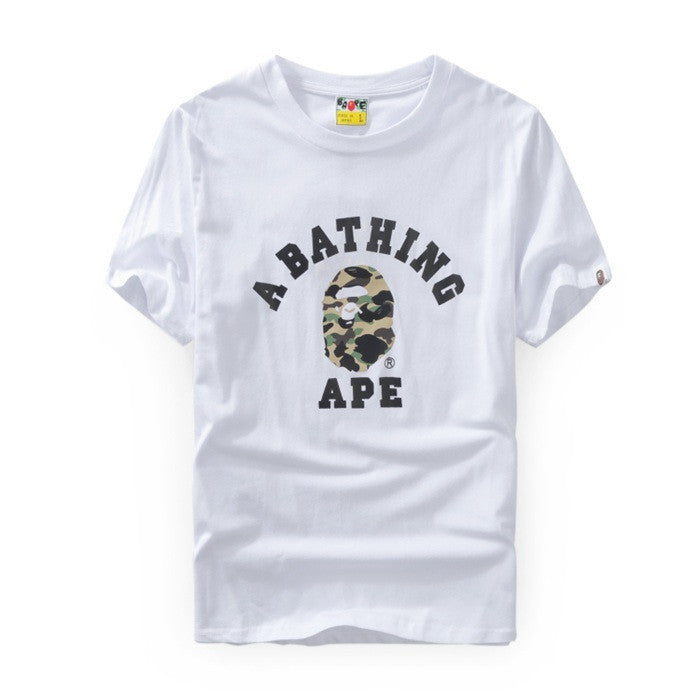 A Bathing Ape ABC Camo College T-Shirt