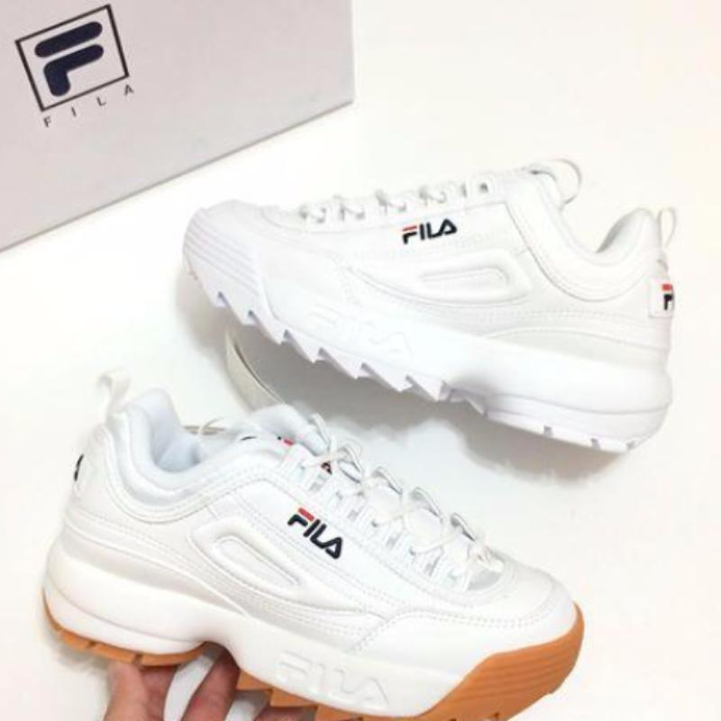 e8f703ee5034 FILA Disruptor II White Brown