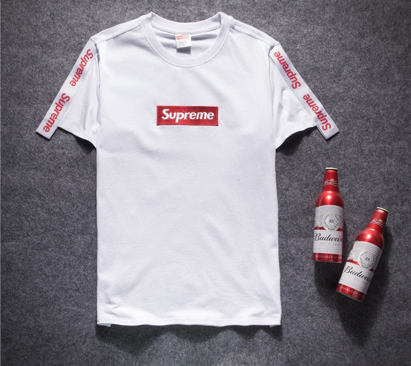 Supreme Embroidery Box Logo With Strip T Shirt