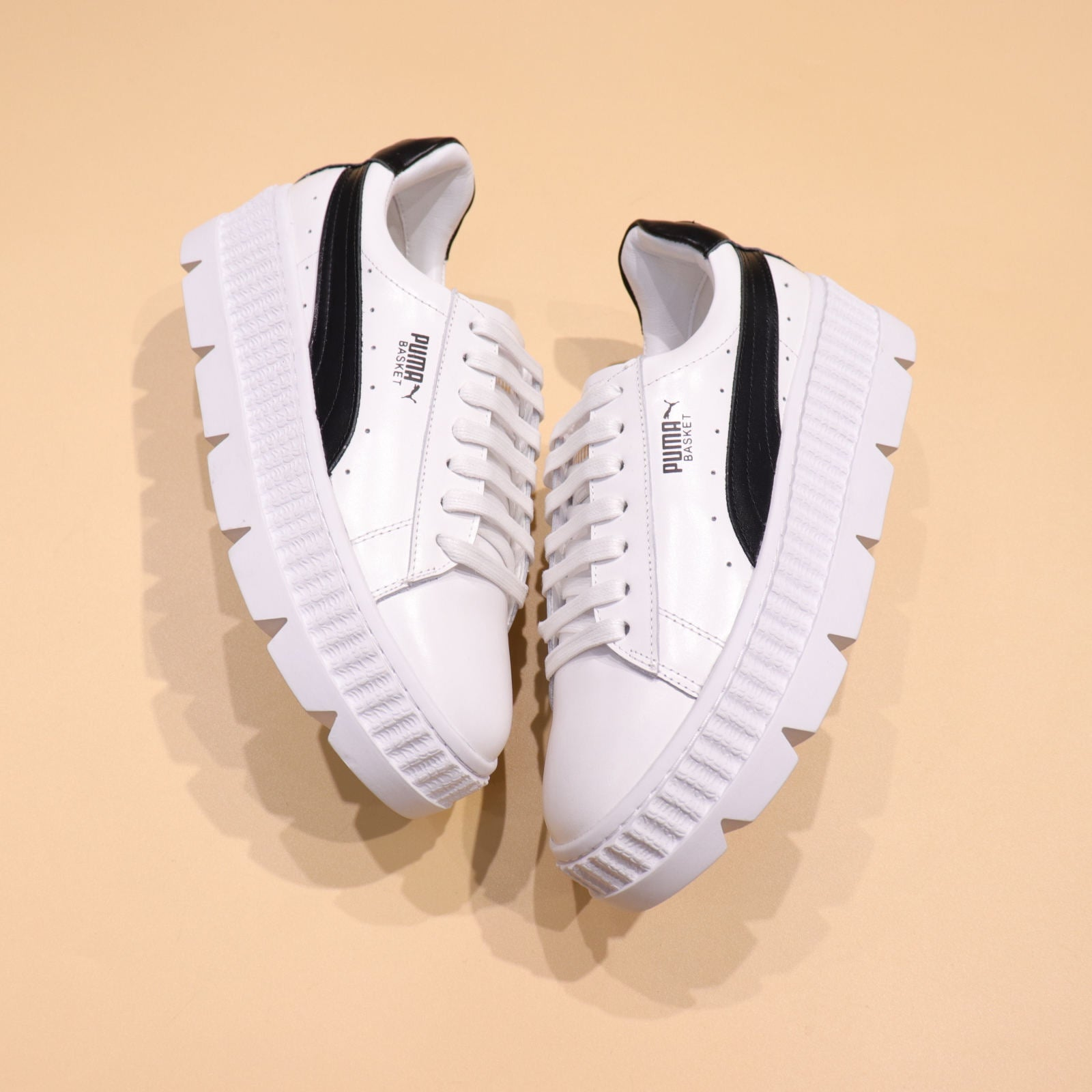 Rihanna x Puma Fenty Cleated Creeper  White-Black  f61b7d1dce96