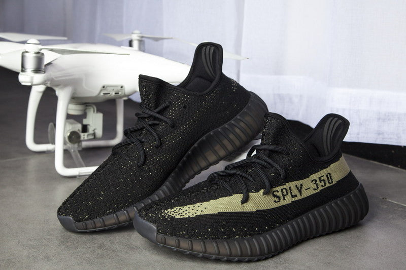 Adidas Yeezy Boost 350 V 2 Core Black / Green BY 9611 SIZE 10 Cheap Sale