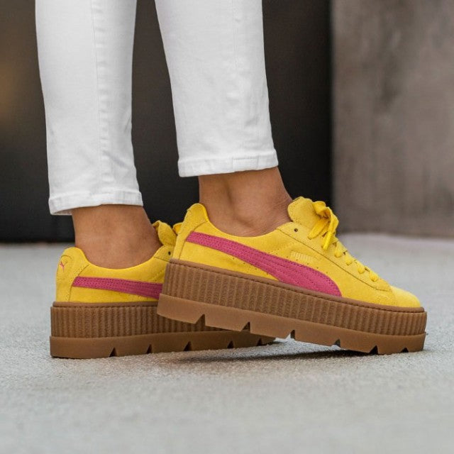 dbc721366506c1 Rihanna x Puma Fenty Cleated Creeper  Lemon-Carmine Rose-Vanilla Icee
