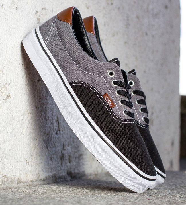 4c9b0445c1ee VANS Era 59 - (Canvas   Chambray) Black Grey