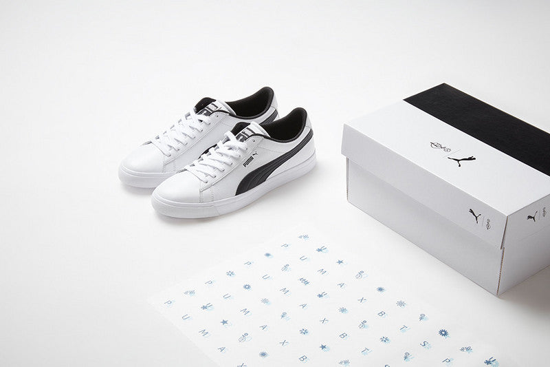 de16b58e014cc6 Puma x BTS   Court Star Shoes. - Natural cowhide + synthetic leather    rubber - Come with a Puma Box