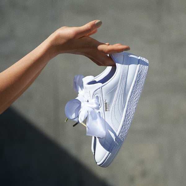 PUMA Basket Heart Patent 'White'