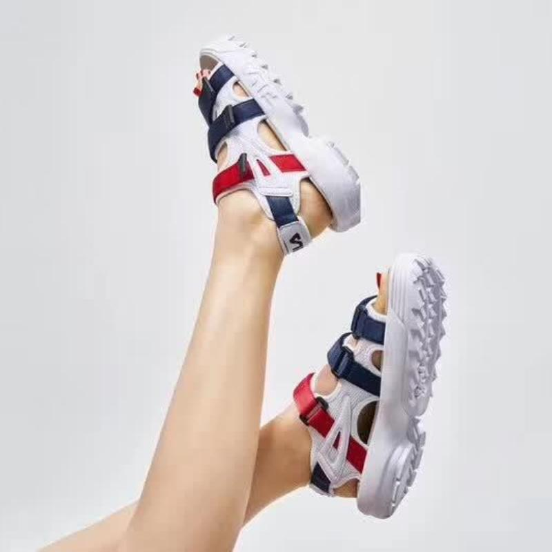 e974a6f3a73 FILA Disruptor Sandal  Navy Red White