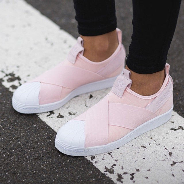 superstar slip on pink