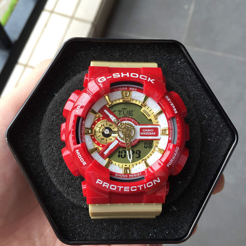 G-Shock GA110CS-4A  Iron Men Red/Gold