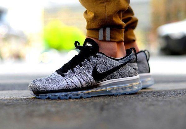 Men's Nike Flyknit Air Max Running Shoes 'White/Black/Cool Grey' (Tmall ORIGINAL)