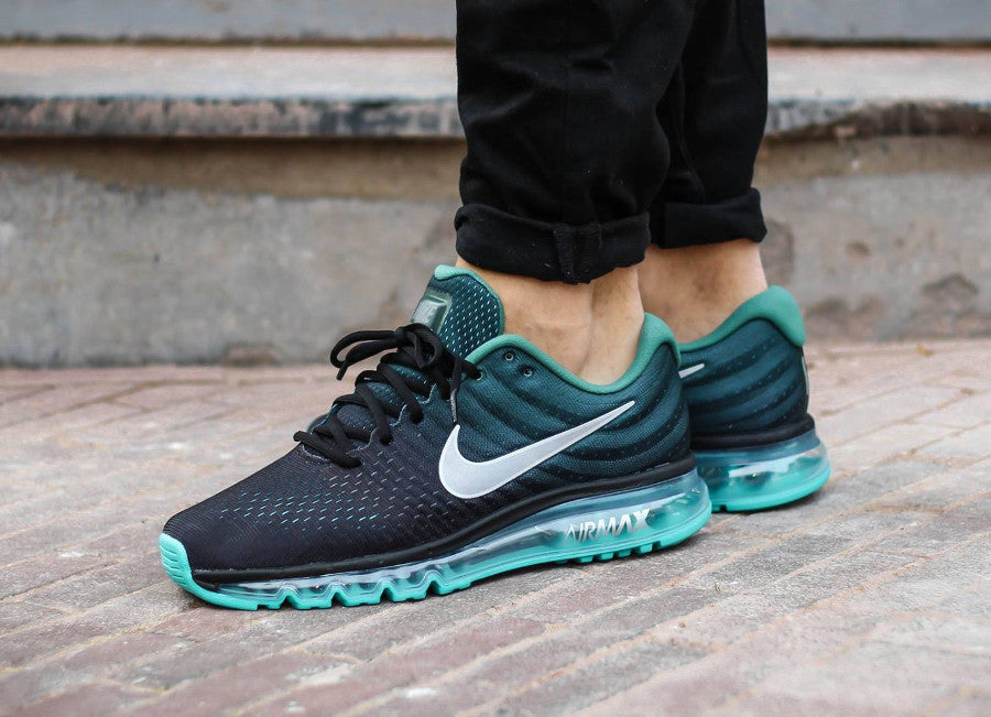 nike air max 2017 black white green stone