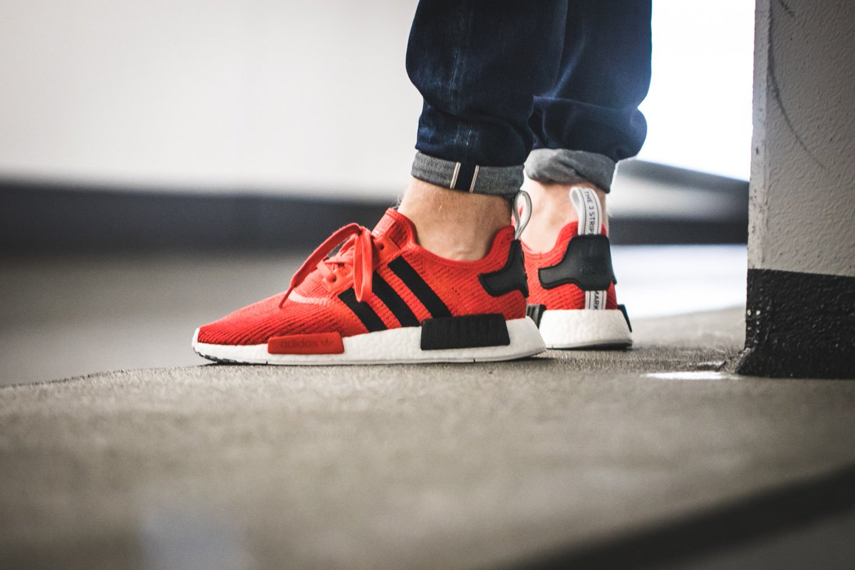 Adidas Nmd Runner Unisex Shoes Red Black Low Expense