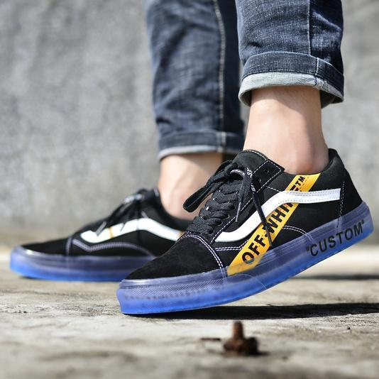 "Off White X Vans Old Skool Custom ""Black"""