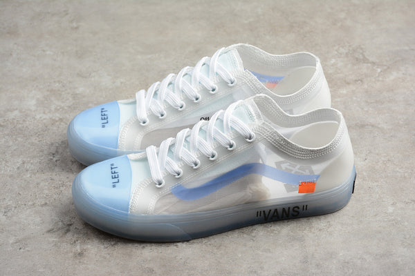 "Off-White x Vans Old Skool ""Transparent White"""