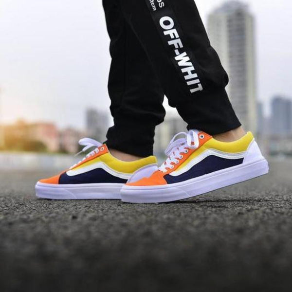 Vans Old Skool College Yellow/Orange Custom