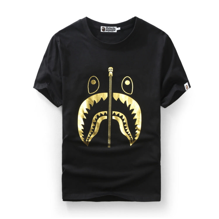 "A Bathing Ape Shark with Zip design ""Tee"" Gold"