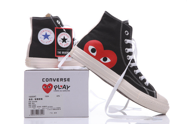 8f0c7150b8c484 PLAY x Converse Chuck Taylor -  Hidden Heart  Black High Sneaker