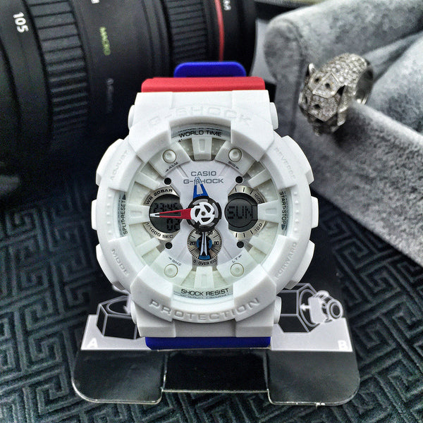 G-Shock GA120TRM-7A White / Red / Blue