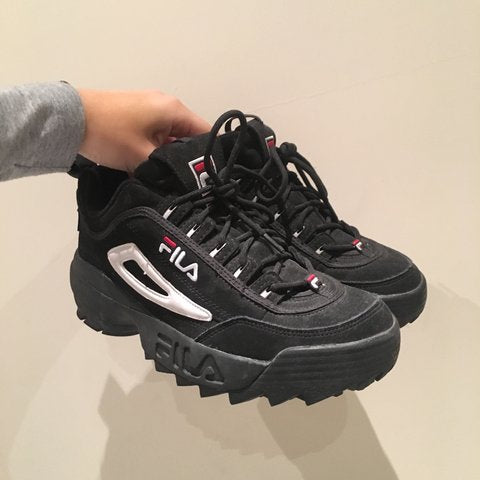 fila disruptor 3 womens black