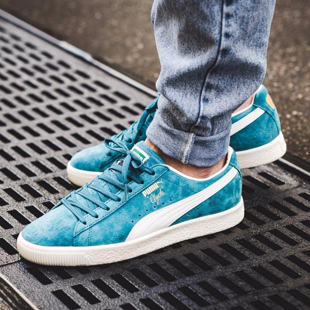 Puma Clyde Premium Core 'Harbor Blue/Whisper White'