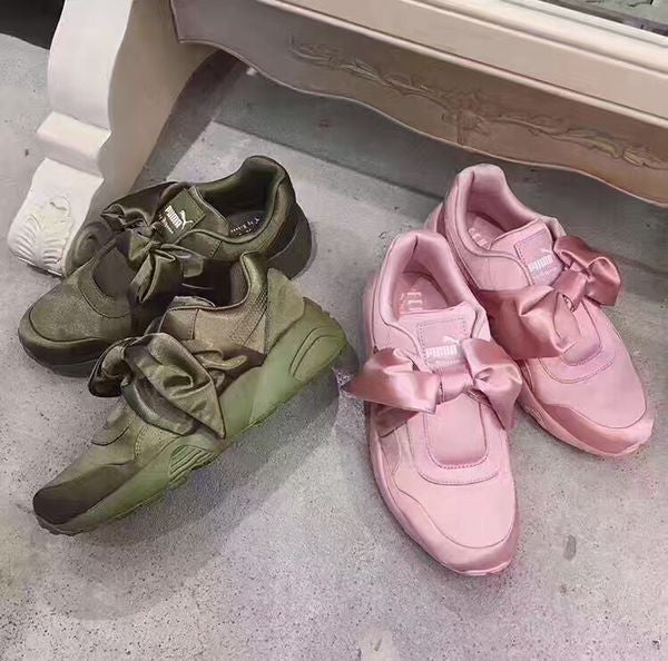 the best attitude a2a65 415da puma fenty by rihanna satin bow sneaker