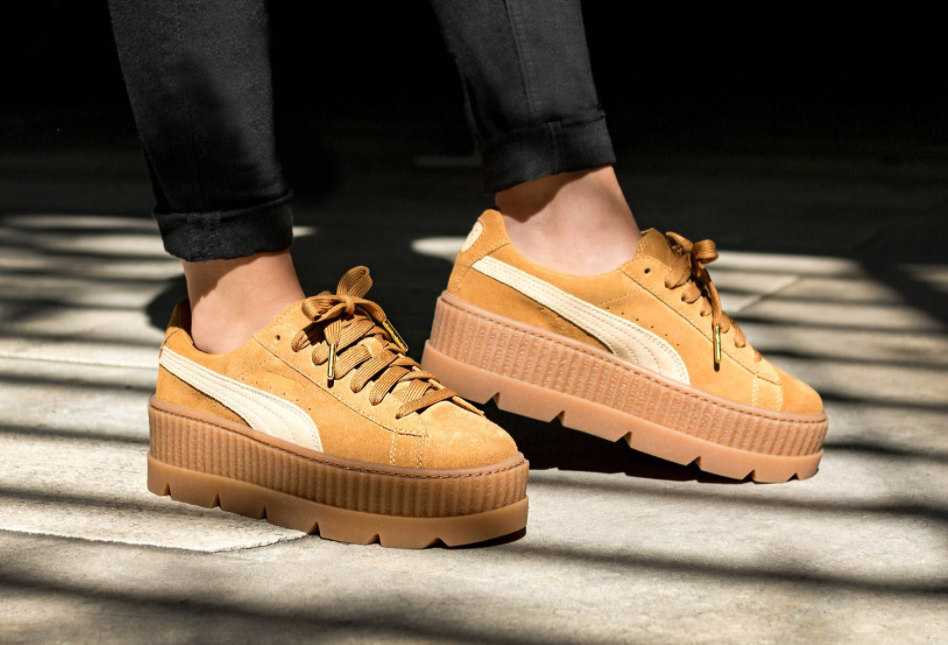 Rihanna x Puma Fenty Cleated Creeper  Golden Brown-Lark  2ae2757fe2