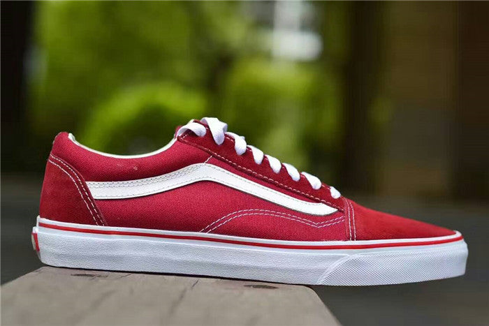 VANS Old Skool Classic - Brick Red True White 0cbcfca76