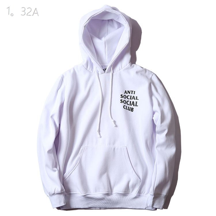 Anti Social Social Club Black Logo Hoodie