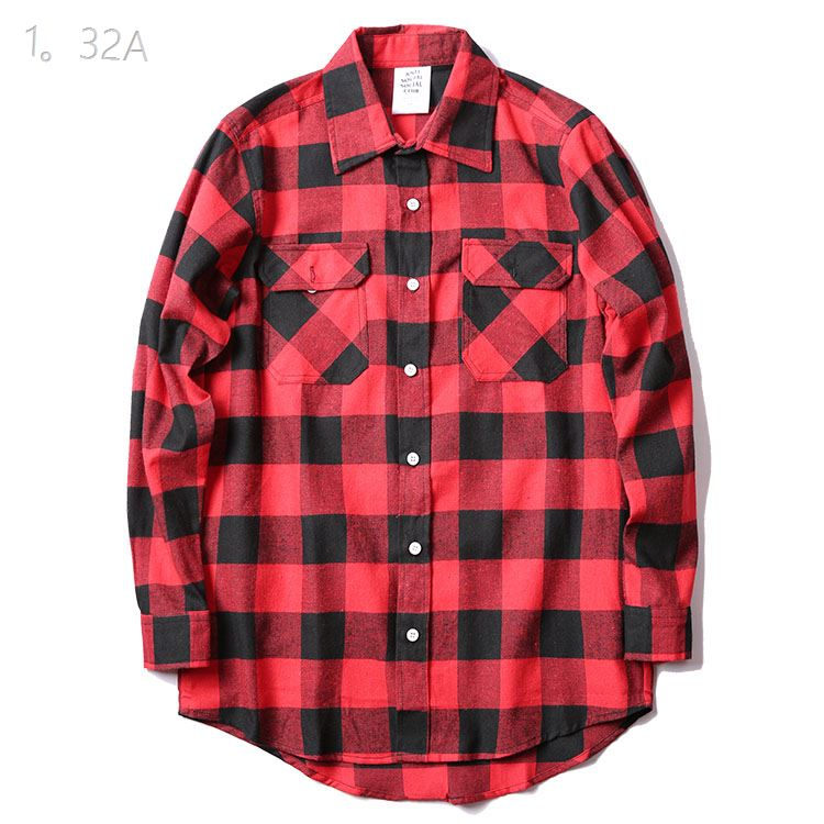 Anti Social Social Club  Red Plaid Shirts