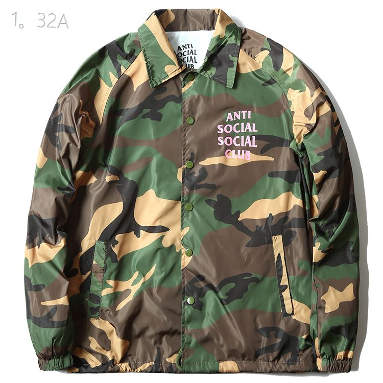 Anti Social Social Club Camo Pink Word Jacket