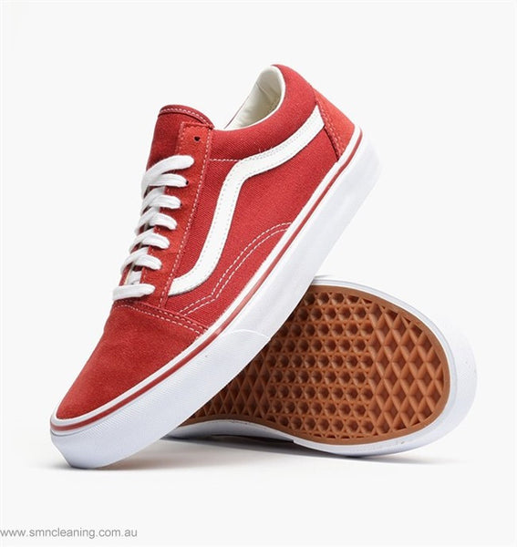VANS Old Skool Classic - Brick Red True White a28fe3408