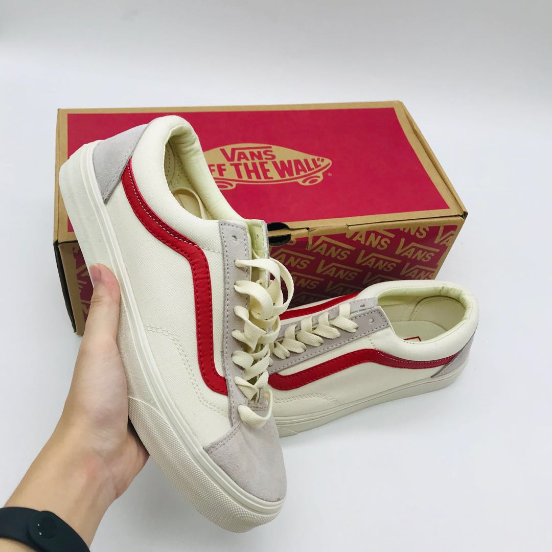 Vans Old Skool Style 36  Marshmallow Racing Red -36 031d5f419